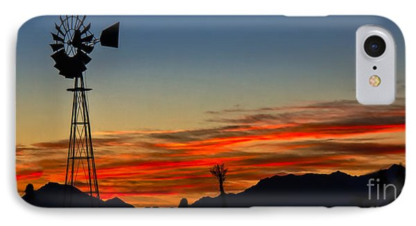 Panoramic Windmill Silhouette IPhone Case