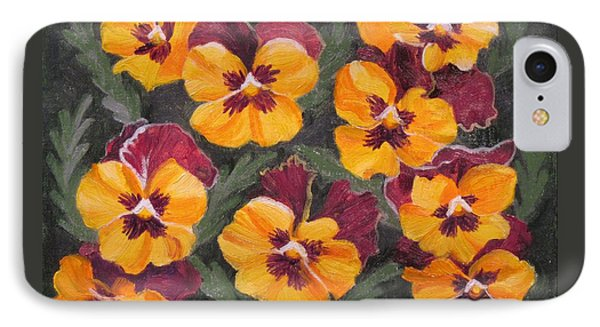 Pansies Are For Thoughts IPhone Case