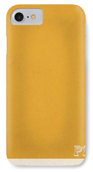 Mustard iPhone 8 Case - Pantone 143 Mustard Yellow Color On Worn Canvas by Design Turnpike