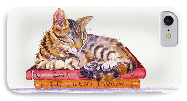 Cat iPhone 8 Case - Paperweight by Debra Hall