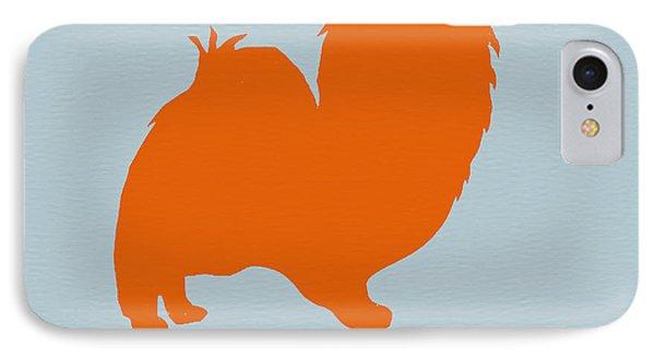 Puppies iPhone 8 Case - Papillion Orange by Naxart Studio