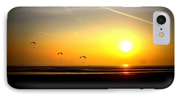 Paragliders At Sunset IPhone Case
