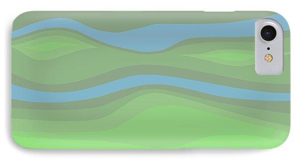 Parallel Streams Topo IPhone Case