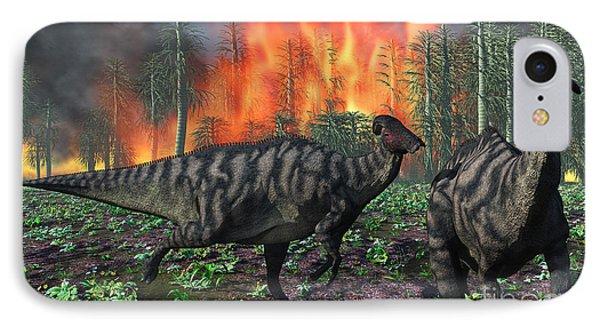 Parasaurolophus Duckbill Dinosaurs IPhone Case