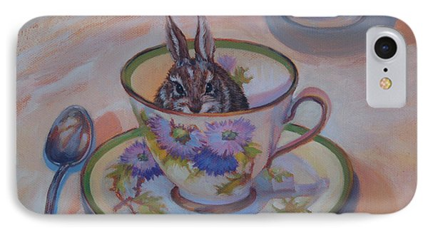 Pardon Maam There Seems To Be A Hare In My Tea IPhone Case