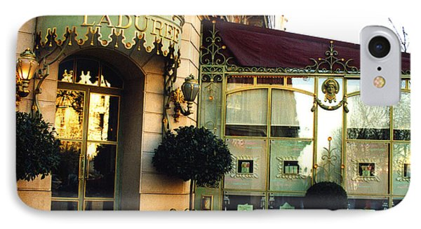 Paris Laduree Macaron French Bakery Patisserie Tea Shop - Champs Elysees - The Laduree Patisserie IPhone Case
