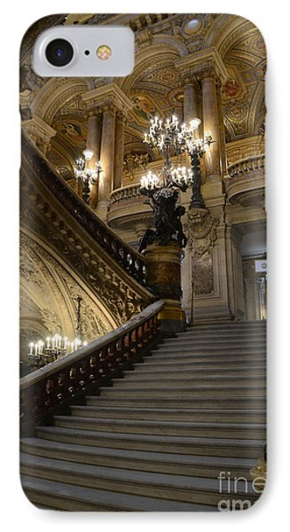Paris Opera Garnier Grand Staircase - Paris Opera House Architecture Grand Staircase Fine Art IPhone Case