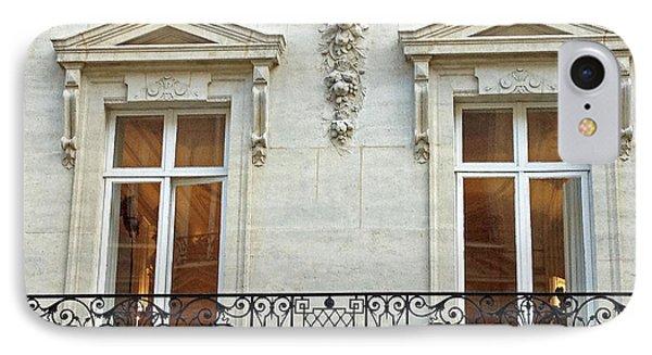 Paris Windows Balconies Baroque - Winter White Paris Windows Lace Balcony - Paris Architecture IPhone Case