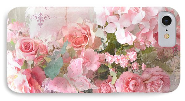 Paris Shabby Chic Dreamy Pink Peach Impressionistic Romantic Cottage Chic Paris Flower Photography IPhone Case
