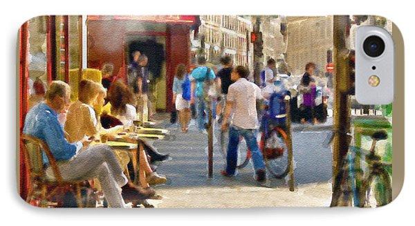 Paris Streetscape Watercolor IPhone Case