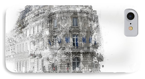 Paris With Flags IPhone Case