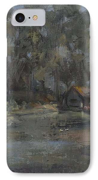 Park Pond And Boat House IPhone Case