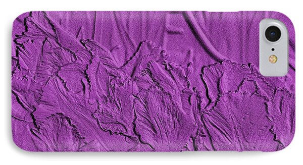 Parrot Tulips Embossed IPhone Case