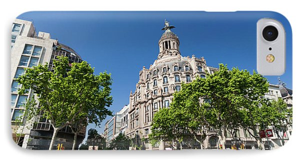Passeig De Gracia, Barcelona, Spain IPhone Case