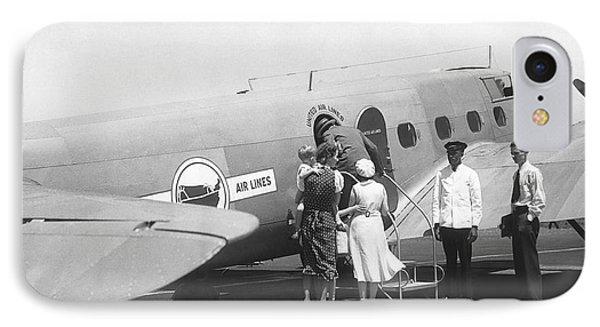 Passengers Boarding Airplane IPhone Case