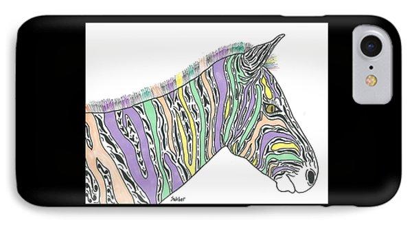 Pastel Zebra  IPhone Case