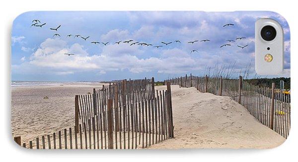 Pawleys Island Beach Scene IPhone Case