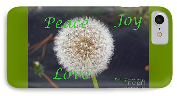 Peace Joy And Love IPhone Case