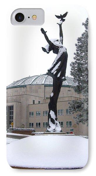 Peace Statue In Winter IPhone Case