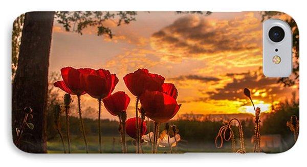 Peaceful Poppy IPhone Case