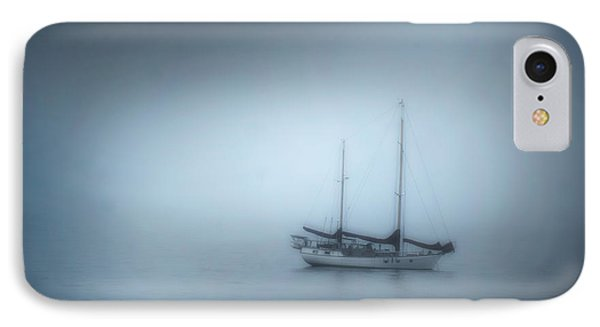 Peaceful Sailboat On A Foggy Morning From The Book My Ocean IPhone Case
