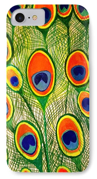 Peacock Feather Frenzy IPhone Case