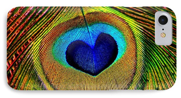 Peacock Feathers Eye Of Love IPhone Case
