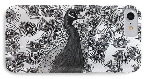 Peacock Walk IPhone Case