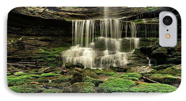 Pearly Creek Falls Near Buffalo River IPhone Case