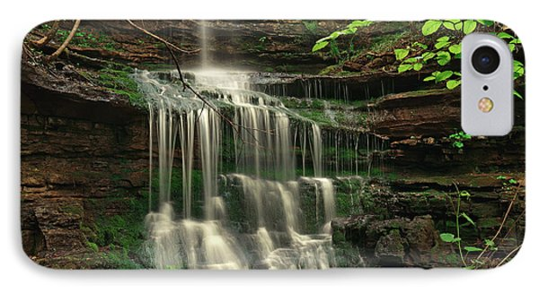 Pearly Creek Falls Surrounded By Green IPhone Case