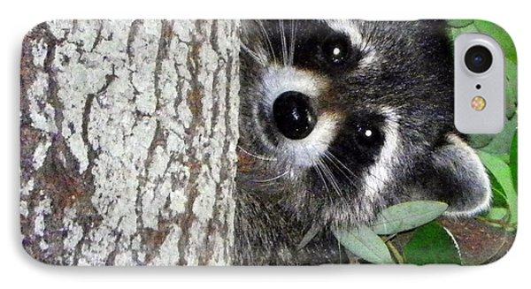 Peek A Boo Raccoon IPhone Case