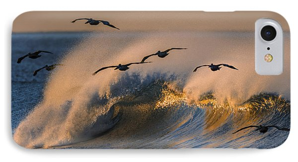 Pelicans And Wave 73a2308-2 IPhone Case