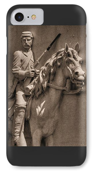 Pennsylvania At Gettysburg - 17th Pa Cavalry Regiment - First Day Of Battle IPhone Case