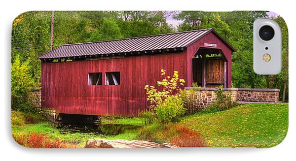 Pennsylvania Country Roads - Everhart Covered Bridge At Fort Hunter - Harrisburg Dauphin County IPhone Case