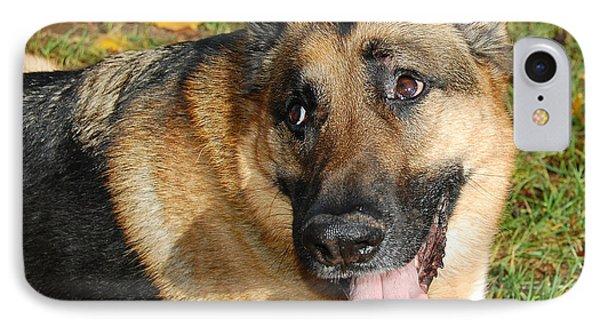 Pensive German Shepherd IPhone Case