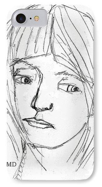 Pensive Girl IPhone Case