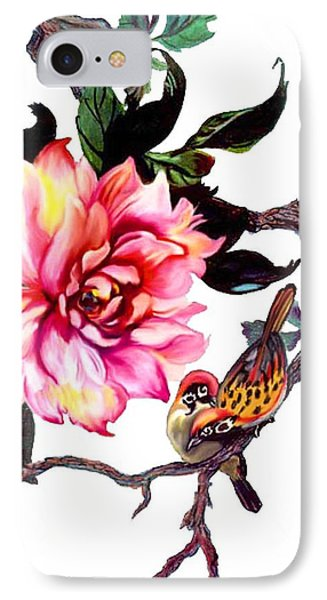 Peony And Birds IPhone Case