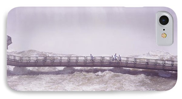 People On Cat Walks At Floodwaters IPhone Case