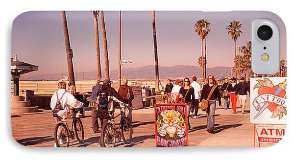 People Walking On The Sidewalk, Venice IPhone Case