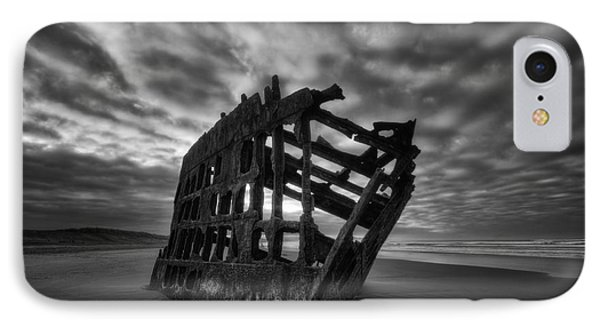 Peter Iredale Shipwreck Black And White IPhone Case