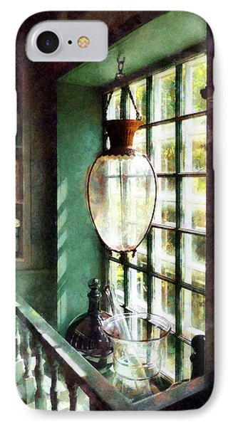 Pharmacy - Glass Mortar And Pestle On Windowsill IPhone Case