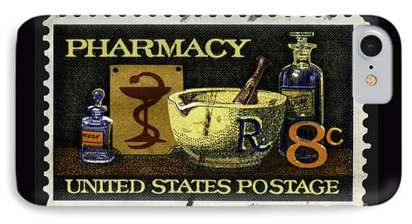 Pharmacy Stamp With Bowl Of Hygeia IPhone Case