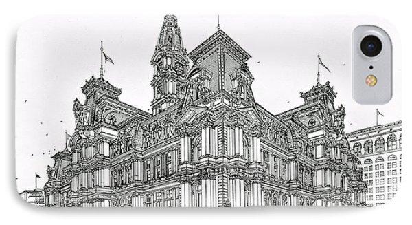 Philadelphia City Hall 1911 IPhone Case