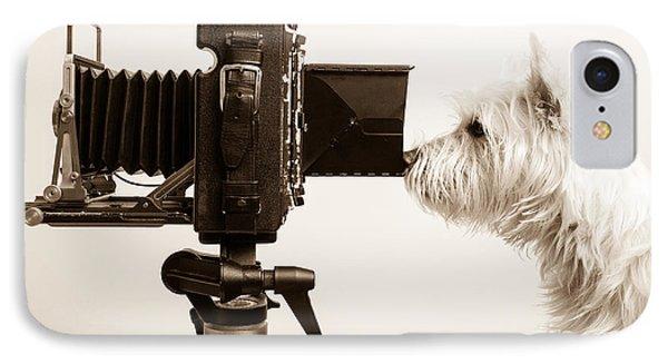 Dog iPhone 8 Case - Pho Dog Grapher by Edward Fielding