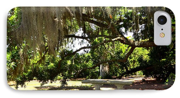 Picnic Under Spanish Moss  IPhone Case