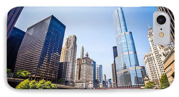 Picture Of Chicago Skyline At Michigan Avenue Bridge IPhone Case