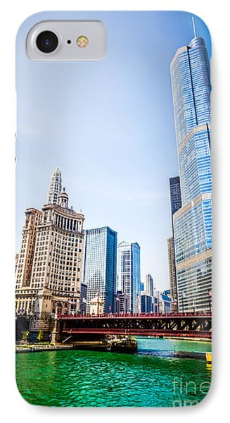 Picture Of Downtown Chicago With Trump Tower IPhone Case