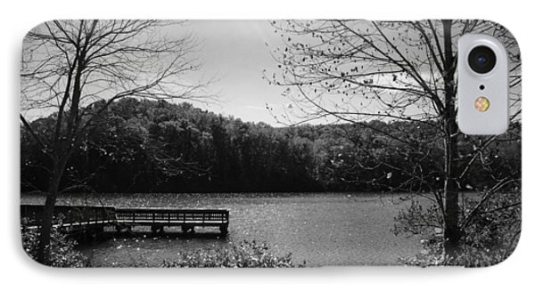 Pier At Table Rock In Black And White IPhone Case