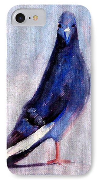 Pigeon Bird Portrait Painting IPhone Case