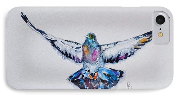 Pigeon In Flight IPhone Case